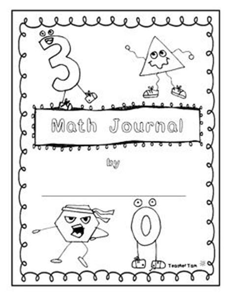 math journal template free math journal covers math