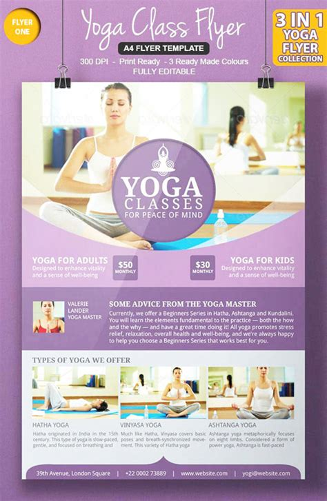templates for yoga flyers 35 best psd flyer template psd free premium themes