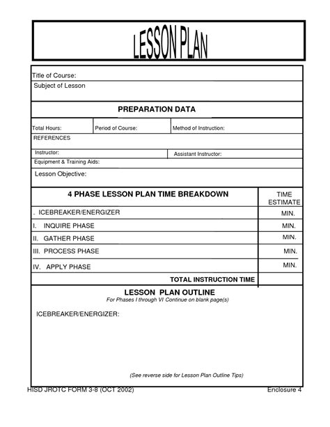 air cadet lesson plan template search results for blank lesson plan forms printable
