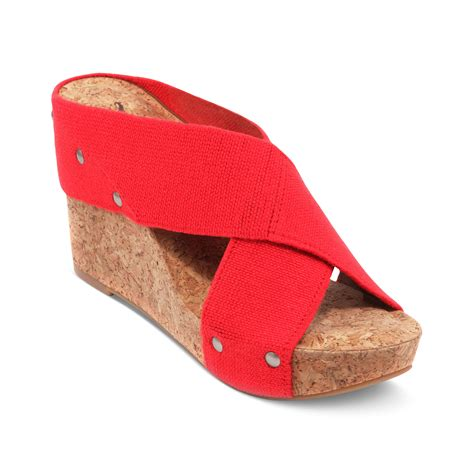 lucky brand wedge sandals lyst lucky brand miller2 wedge sandals in