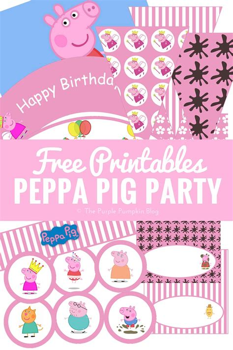 printable birthday supplies peppa pig party printables fun party ideas 187 the purple
