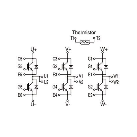igbt transistor model power semiconductors igbt 6 pack data sheet equivalent circuit fuji electric