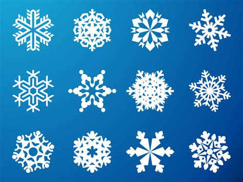 snowflake graphics set vector art graphics freevector com