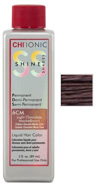 chi perment hair color 6cm chi shine shades liquid color 6cm light chocolate mocha