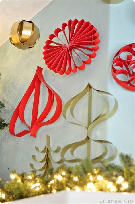 how to make paper christmas ornaments holidays pinterest
