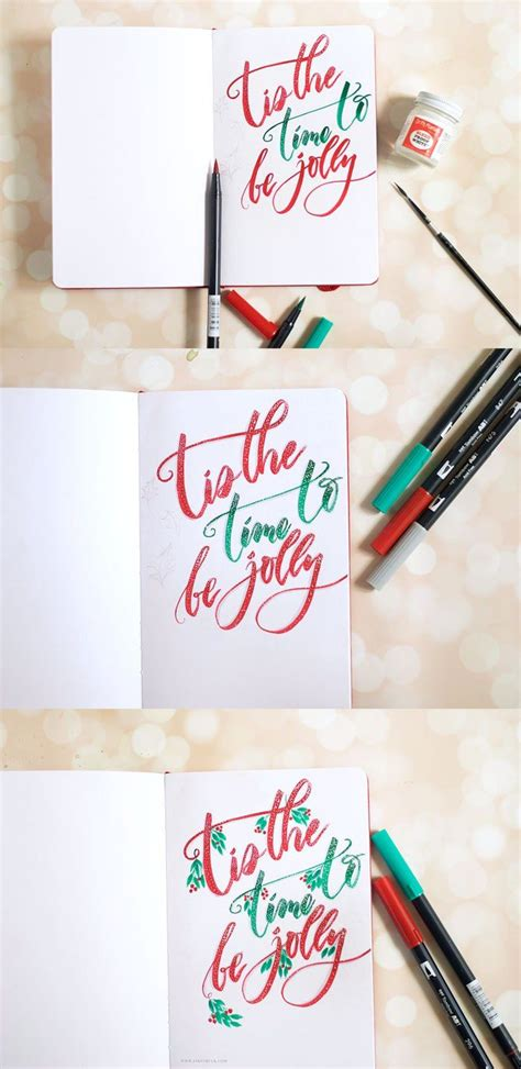 hand lettering tutorial step by step 138 best holiday crafts images on pinterest holiday