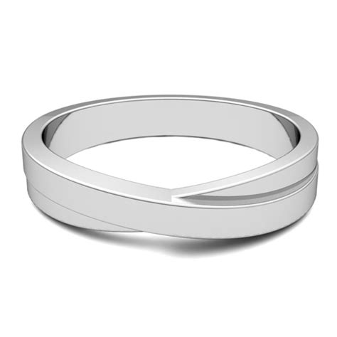 infinity mens wedding band infinity wedding band in platinum mens comfort fit ring 4mm