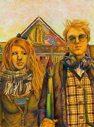 Grant Wood American Gothic Painting