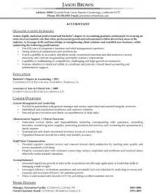 Sle Of Resume For Accountant by Objective Accounting Resume Sles