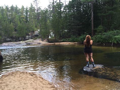 foapcom boland falls  elliot lake ontario stock