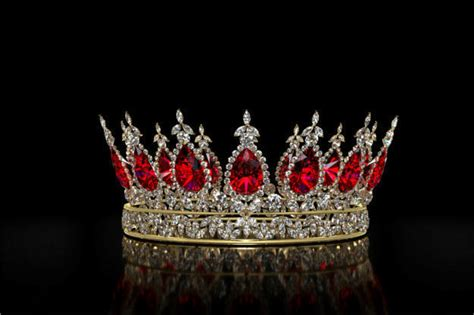 Ruby and Diamond Crown 3D model CGTrader