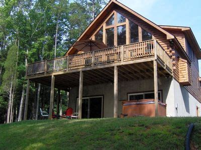 Kerr Lake Cabin Rentals by Large Flagstone Patio By Water With Swings Vrbo