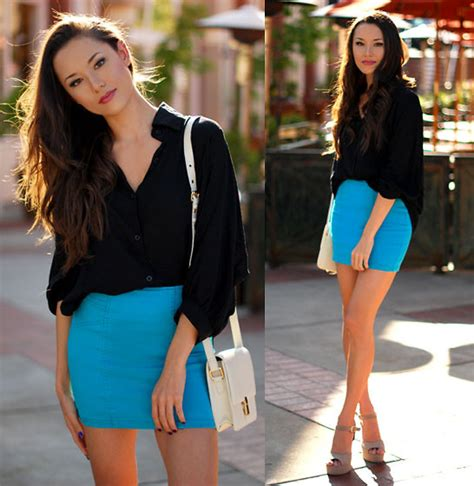 Sofia Blueblack r style sofia black dolman top pacsun blue nollie mini skirt sheinside white