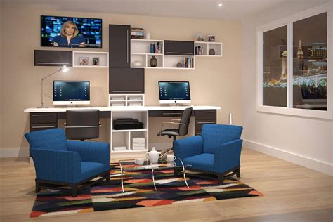 Small Home Office With Two Desks 26 Home Office Designs Desks Shelving By Closet Factory