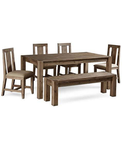 Macys Dining Room Table 6 Dining Set Created For Macy S 72 Quot Dining Table 4 Side Chairs Bench