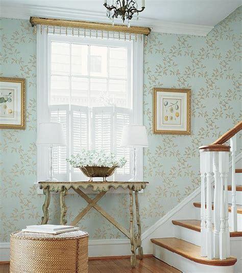 gold wallpaper hallway heather fulkerson interiors fancy foyers