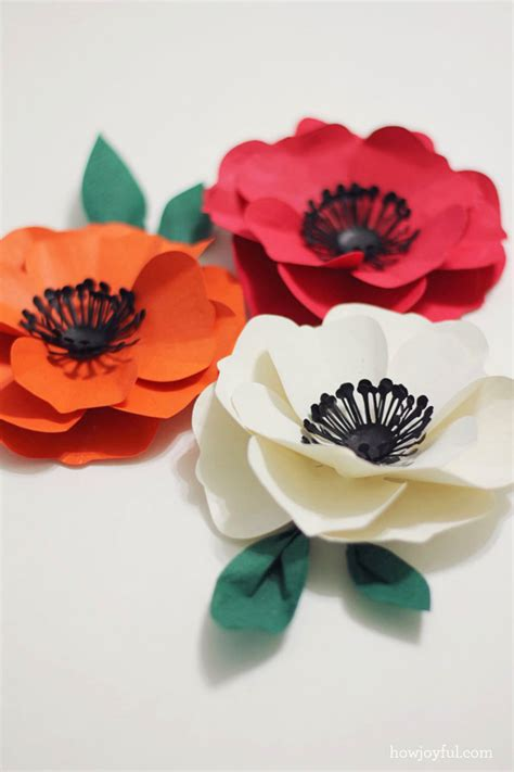 How To Make Flowers By Paper Cutting - how to make a poppy flower with paper tutorial and