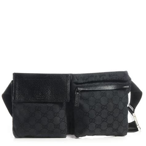 gucci monogram gg belt fanny pack waist pouch  black