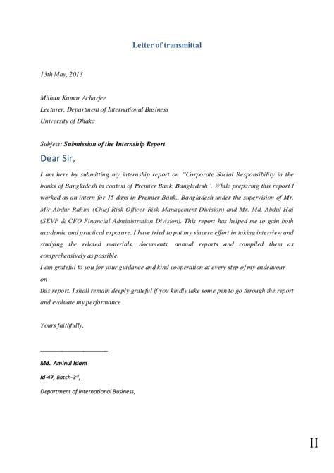 Financial Responsibility Letter Corporate Social Responsibility In The Banks Of Bangladesh In Context