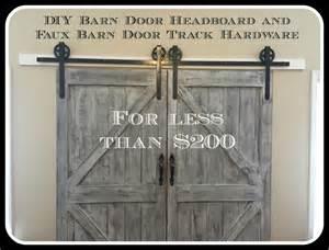 How To Make A Barn Door Headboard Cheaper And Better Diy Barn Door Headboard And Faux Barn