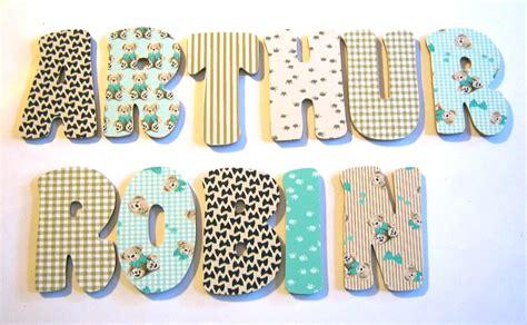 lettres pour chambre bébé lettre bois pr 233 nom gar 231 on lettre bois