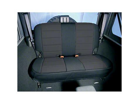 rugged ridge seat rugged ridge wrangler neoprene rear seat cover black 13262 01 87 95 wrangler yj free shipping