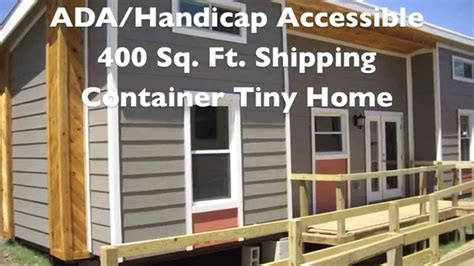 handicap tiny houses ada shipping container tiny home built by students