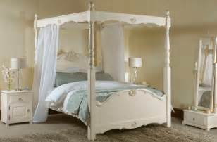 White Bed Canopy New Orleans Four Poster Bed From Revival Beds