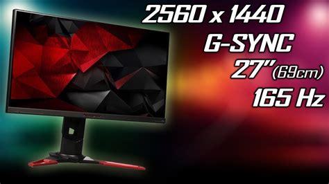 unboxing gaming monitor acer predator xb271hua 165hz cu g sync