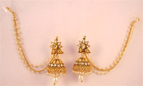 Antique Wall Clocks Online by Buy Earrings Jhumka Chandelier Pearl Beads Gold Plated