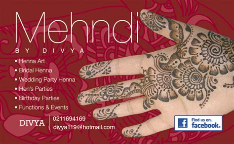 Free Mehndi Business Cards Template by 29 Amazing Mehndi Design Visiting Card Makedes