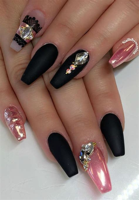 matte black and pink 267 best nagel images on pinterest cute nails nail art