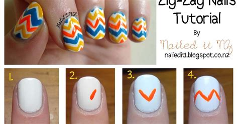 nails tutorial zig zag nail art for short nails 3 zig zag nails