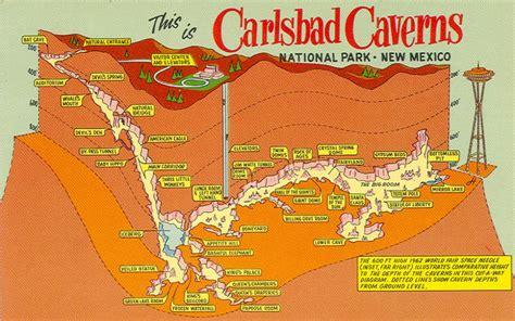 california caves map carlsbad caverns maps