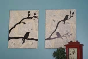 Bird Wall Decor by Crafting On A Budget Diy Bird Canvas Wall