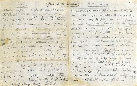8 Pros And Cons On Getting Married At A Age by Charles Darwin Creates A Handwritten List Of Arguments For