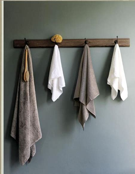 bathroom towel hook ideas i think i like the idea of hooks for towels in the