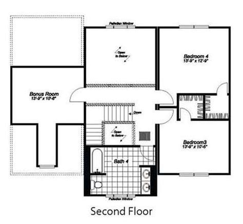 birmingham floor plan birmingham 3416 square foot two story floor plan