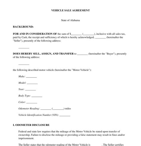 formal car purchase contract template free my board pinterest