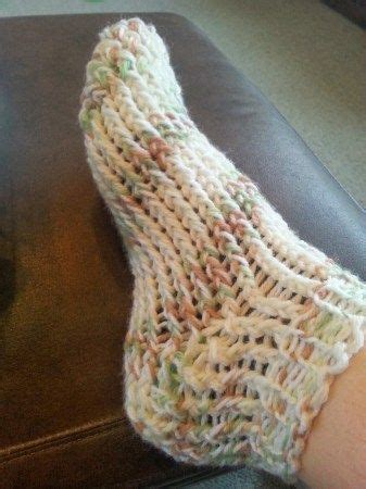 pattern for socks on a loom toe up loom knit slipper sock knitting loom knitting