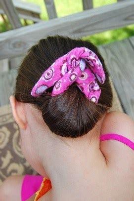 tutorial sew  bun maker  easy summer hair sewing