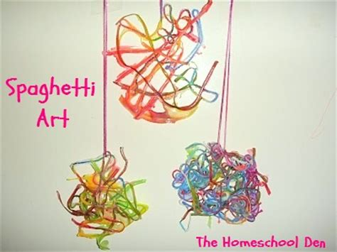 arts and crafts for pre k prek craft spaghetti yarn homeschool den