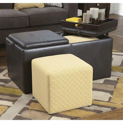 ashley storage ottoman ashley furniture hodan faux leather flip top storage