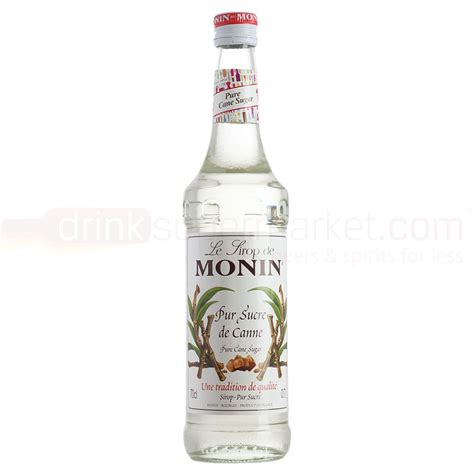monin pure cane sugar syrup 70cl drinksupermarket
