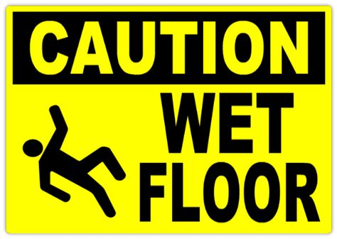 Caution Wet Floor Sign  Caution Safety Sign Templates