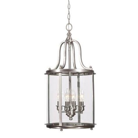 sea gull lighting gillmore 4 light brushed nickel