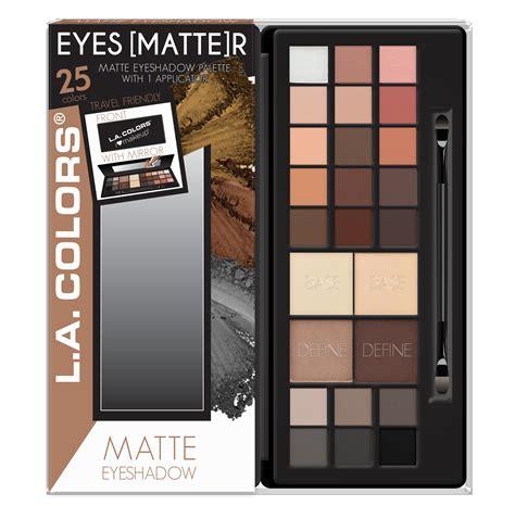 Dijamin La Colors Matte Eyeshadow Suede l a colors 25 color matte shimmer eyeshadow palette matte r