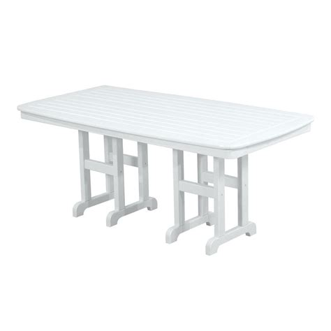 White Patio Dining Table by Keter Harmony White Cappuccino Patio Dining Table 226342