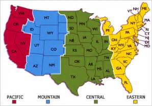 us map with abbreviations and time zones us time zones