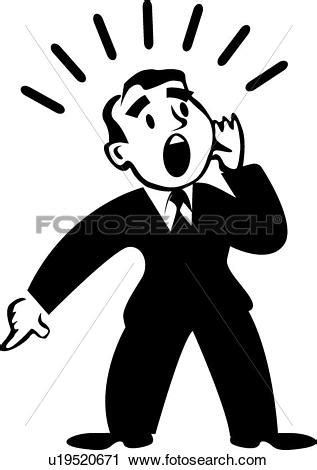 shout clipart black and white - Clipground